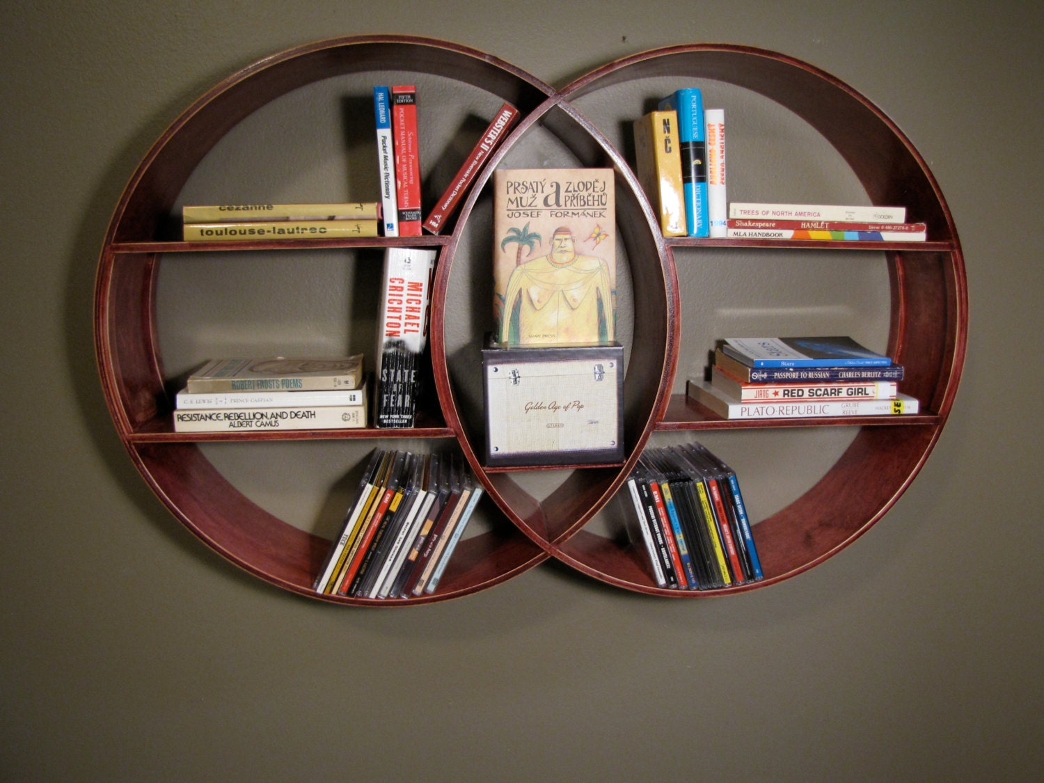 Round Shelving Unit Reclaimed Wood Shelf Wall by KNCustomShelving