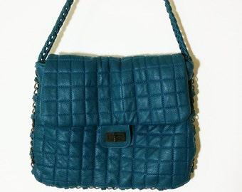 HANDBAG, quilt bag, shoulder bag ,retro bag, evening bag, wristlets bag, messenger bag, vintage womens boho bag,