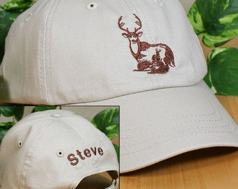 Embroidered Whitetail Deer Hat
