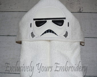 READY TO SHIP Galaxy Soldier Children's Hooded Towel