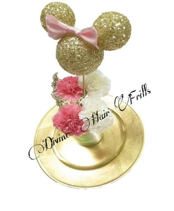 Minnie mouse centerpiece silhouette gold