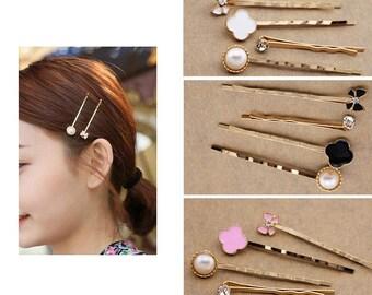 Fashion Hair pin Set (Set of 4) - Vintage Looking Hair pin- Hair pin Set - Vintage Bobby Pin - Bridal Hair pin - Vintage Bobby Pin