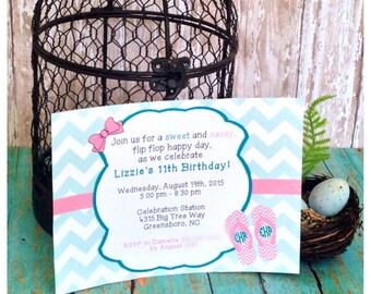PRINTED Simply Sweet & Sassy! Invitation (5x7)