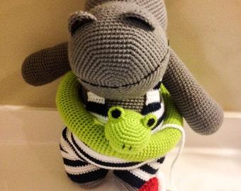 Crochet Hippopotamus: Herman, the Hippo