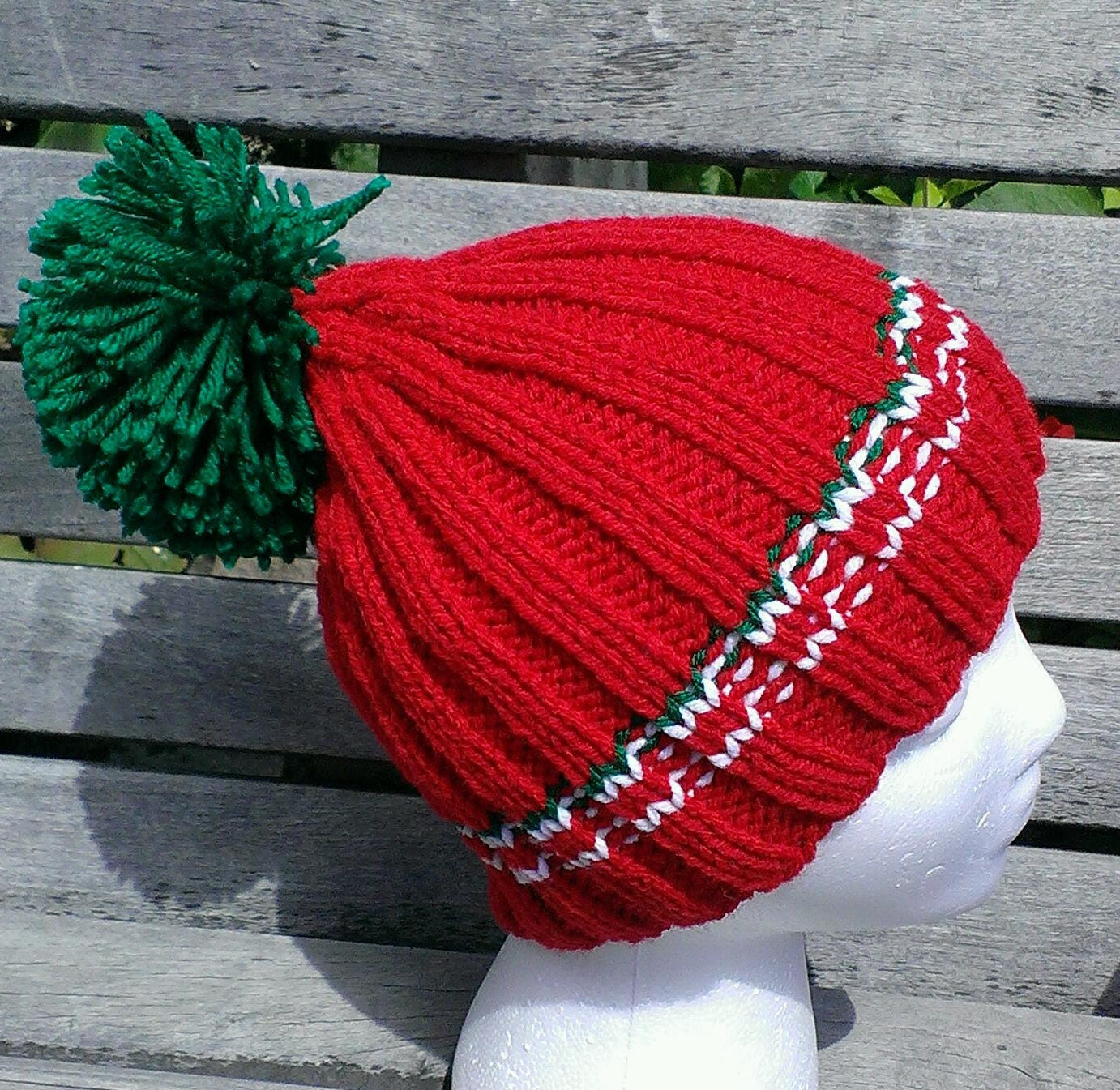 red beanie red winter knit hat red knit hat by ...
