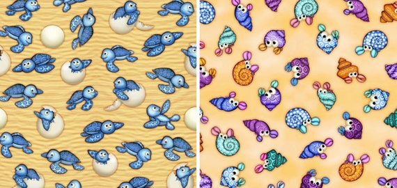 Items similar to under the sea fabrics blank quilting for Children of the sea fabric