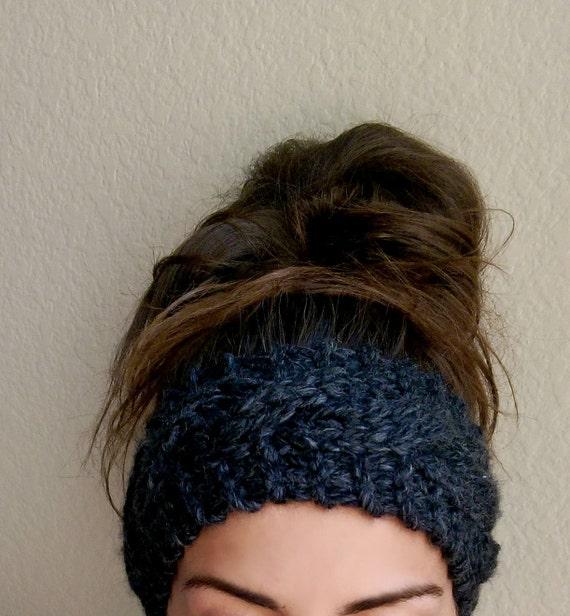 Chunky Cable Knit Ear Warmer Chunky Ear Warmer Headband