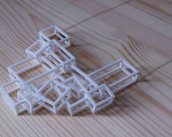 Tangle I Necklace  - Geometric Statement Jewelry - 3D Printed