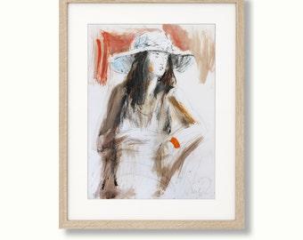 Colorful sketch, Giclee art print, Woman Drawing, Wall decor print, Graphic art print, Figurative Artwork, Modern Wall art, Woman figure