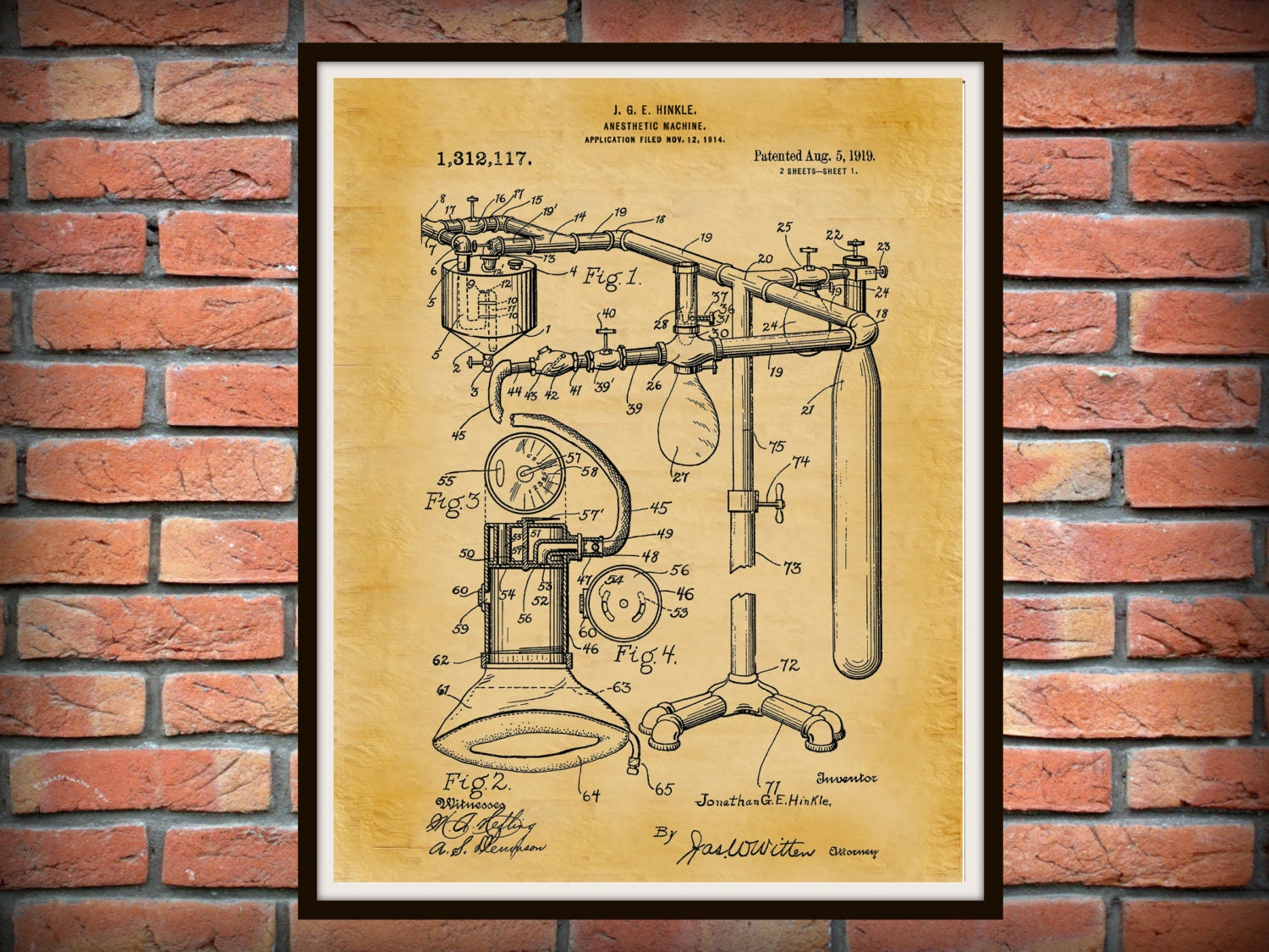 surgical instrument patent 1902 doctor office decor. plain decor zoom inside surgical instrument patent 1902 doctor office decor t