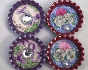 Colorful Bottlecap Magnets