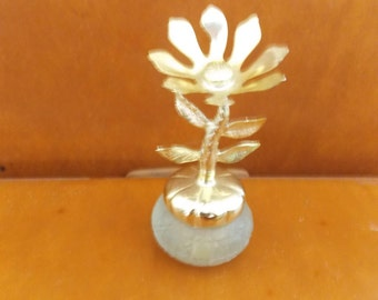 vintage avon keepsake flower bird of paradise cream sachet perfume bottle