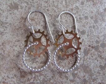brass or copper gearring loop