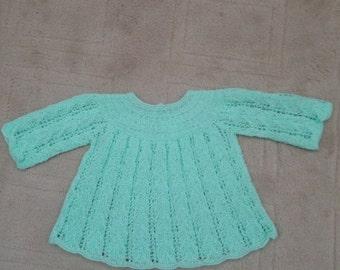 Baby Dress in Pretty Spearmint Green