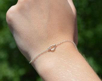Heart bracelet, Love bracelet, Silver heart bracelet, Heart jewelry, Tiny heart bracelet, Love bracelet silver, Small heart bracelet
