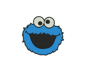 Cookie Monster Embroidery Design - 3 sizes Instant Download