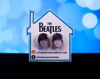John Lennon - The Beatles Earrings / Silver Earrings / Stud Earrings