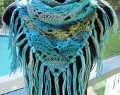 Shades of the Sea Triangle Infinity Scarf from Chetnanigans Boutique