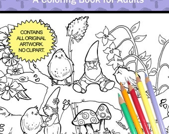 The Garden Gnomes - Coloring Book for Adults