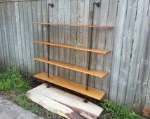 Steel pipe shelving units