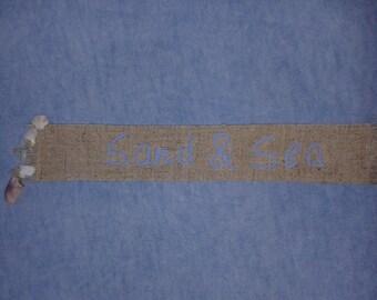 Bookmark fabric and seashells