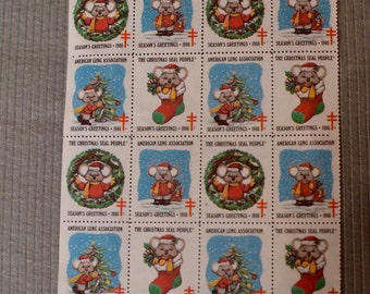 1986 Vintage American Lung Association Christmas Seals