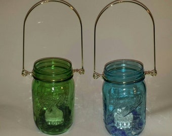 Mason Jar Lantern-Set of 2-Outdoor Lighting-Patio Lighting-Garden Lighting-Luminaries-Mood Lighting-Backyard Lighting-Unique Lighting