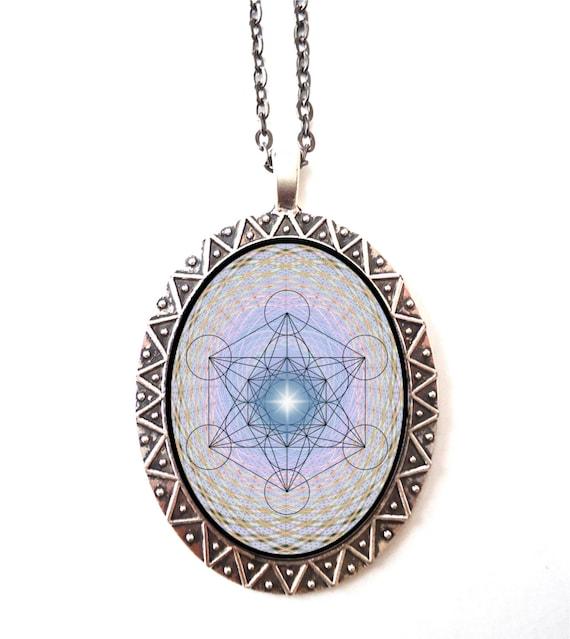 metatron s cube necklace pendant sacred geometry