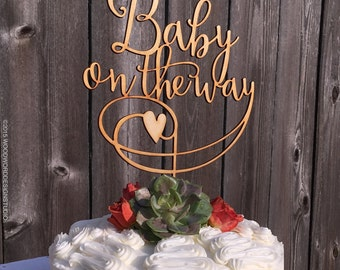 Baby on the Way - Baby Shower Cake Topper