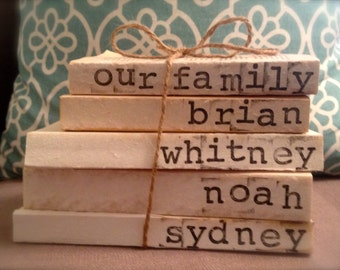 Family Names Stamped Books