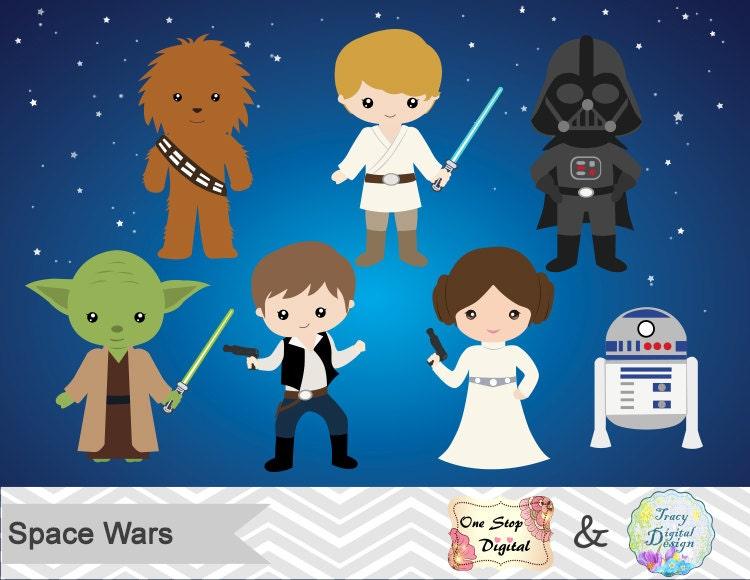 Instant Download Star Wars Digital Clip Art Star Wars