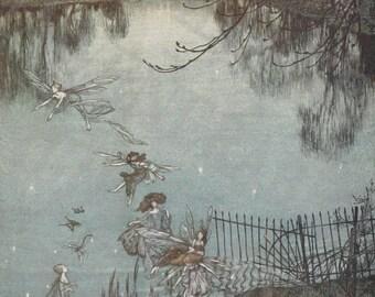 1912 - Collection of 39 Arthur Rackham Illustrations - Peter Pan in Kensington Gardens - Instant Digital Download
