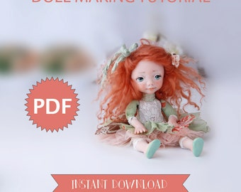 Doll Tutorial Instant Download PDF Guide Doll Making Book Art Doll Diy Dolls E-book