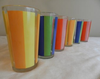 Retro Drinking Glass Set