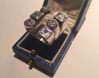 Vintage silver ring, Statement ring fab piece