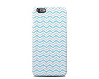 Grey & Blue Chevron iPhone 6 Case - iPhone 6 Plus Case - iPhone 5 Case - iPhone 5S Case - iPhone 5C Case