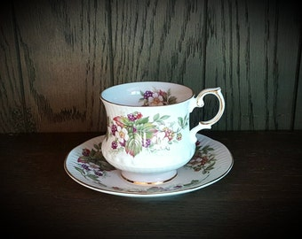Rosina Wild Flowers teacup and saucer