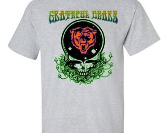 Grateful Dead T-Shirt, Grateful Dead Chicago Bears Shirt, Grateful Bears, Chicago Bears Tee, Chicago Grateful Dead Shirt, Bears Head Chicago