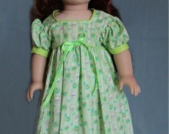Green Floral Pioneer Dress