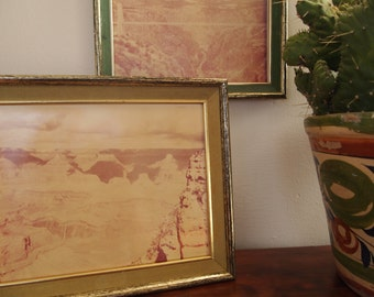 DESERT PHOTOS // Faded Vintage Framed Desert Photographs, Set of 2