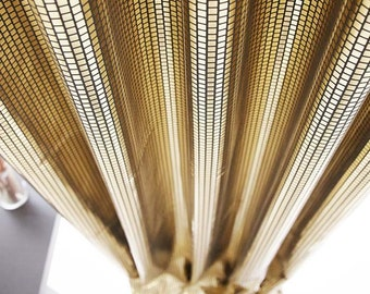 Sparkly Gold Foiled Plaid Blackout Curtain Nursery Curtains