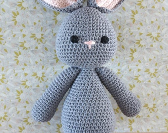 Grey crochet toy bunny