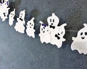 Halloween Garland, Family Ghost Garland, Felt Garland