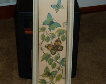 Butterfly Art, signed by: Evelyn Hott; vintage