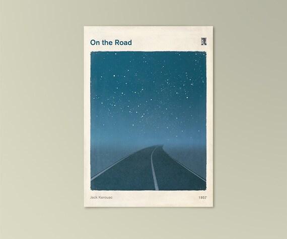 "Jack Kerouac ""On the Road""  - Art card, literary gift, illustration card, literary print, printable art, digital download"