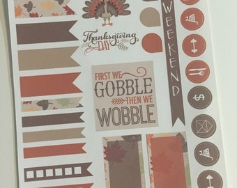 Thanksgiving Stickers for your Erin Condren Planner