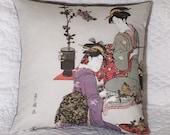 Geisha Women Hanky Pillow