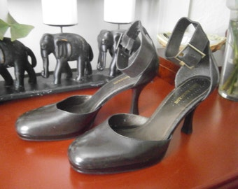 Women's Heels -  Size 9 1/2 - Brown Ankle Straps