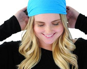 Boho Head Wrap, Hair Band, Fashion Headband, Headband in Sky Blue By Simply Martha