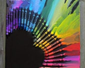 Heart Melted Crayon Art - BeccaGArt
